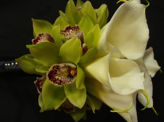 calla lilies and cymbiums